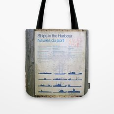 Ships in the Harbour (Friendship) Tote Bag