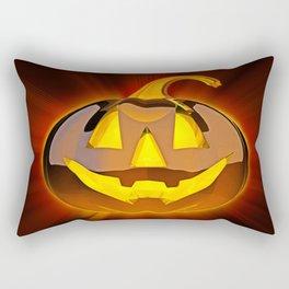 Glossy Happy Halloween Pumpkin Rectangular Pillow