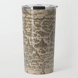 Historical Map of Damascus Syria (1575) Travel Mug