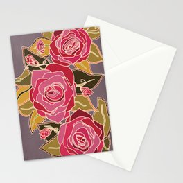With The Roses Stationery Cards