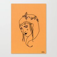 asia Canvas Prints featuring Asia by Marta R. Gustems