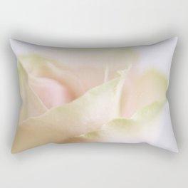 Pale pink macro rose Rectangular Pillow