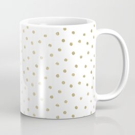 Delicate Gold Polka Dots Coffee Mug