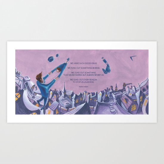 POEM OF FLING Art Print
