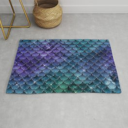 Mermaid Scales Ombre Glitter 4 Rug