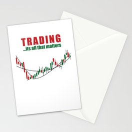 Trading, It's All That Matters Stocks Stationery Cards