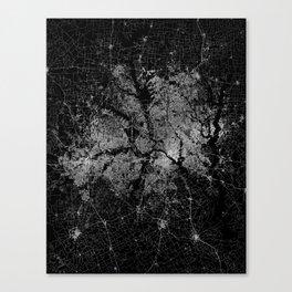 Dallas map Texas Canvas Print