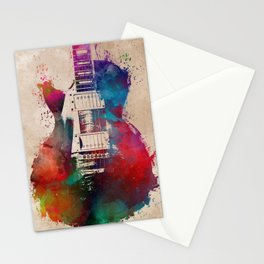 guitar art #guitar Stationery Cards