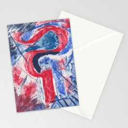 Lady Liberty Abstract Stationery Cards