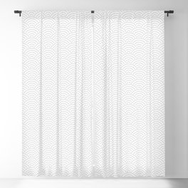 Japanese Seigaija Pattern - Gray and White Blackout Curtain