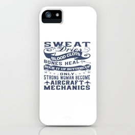 Aircraft Mechanic Woman iPhone Case