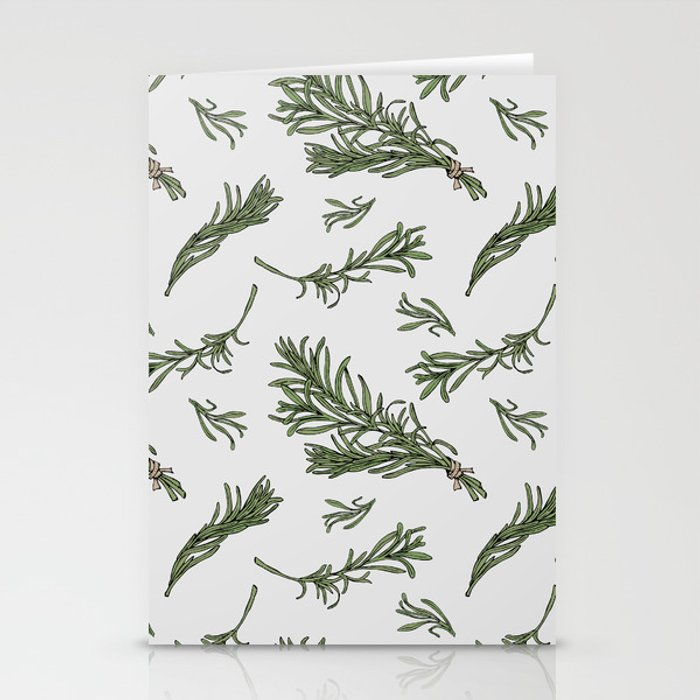Rosemary rustic pattern Stationery Cards