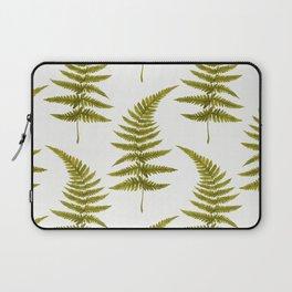 Green Watercolor Fern Pattern Laptop Sleeve