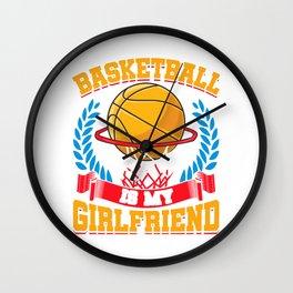 Basketball Is My Girlfriend Basketball Players Wall Clock