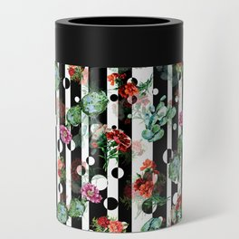 Cactus Flowers and Lines Can Cooler