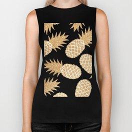 GOLD---Pineapple Biker Tank