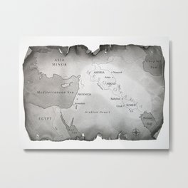 MAP OF MESOPOTAMIA Metal Print