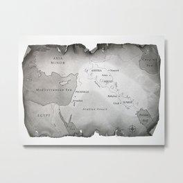 MAP OF MESOPOTAMIA Metal Print