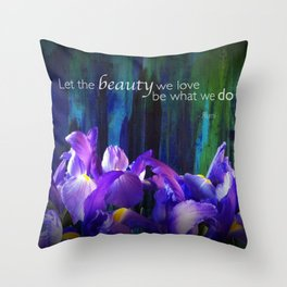 Let the beauty - Iris - iPhoneography Throw Pillow