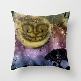 Chesire Moon Throw Pillow
