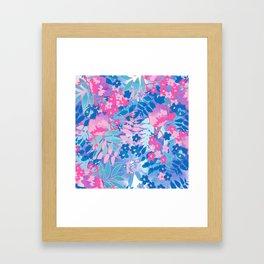 Pastel Watercolor Flowers Gerahmter Kunstdruck