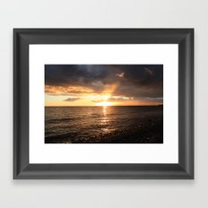 Good night sun! Framed Art Print