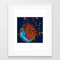 sun and moon Framed Art Prints featuring Sun-Moon by Aubree Eisenwinter