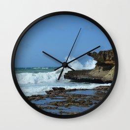 Waves Crash on Somalia Wall Clock