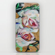 Two Roses on Gold iPhone & iPod Skin
