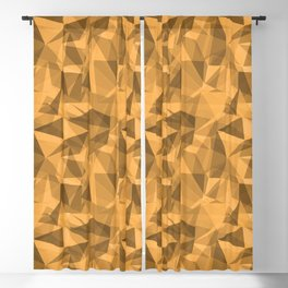 Abstract Geometrical Triangle Patterns 3 VA Bright Marigold - Spring Squash - Pure Joy - Just Ducky Blackout Curtain