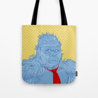 donkey kong Tote Bags featuring Donkey Kong by Ismael Álvarez
