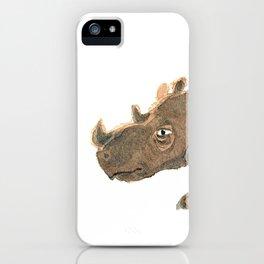 Thinking Rhinoceros iPhone Case