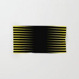 Yellow and black line background #society6 #decor #buyart #artprint Hand & Bath Towel