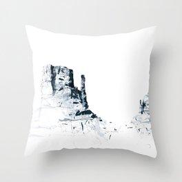 Monument Valley mountainsplash Throw Pillow