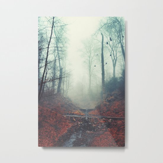 Misty March Morning Metal Print