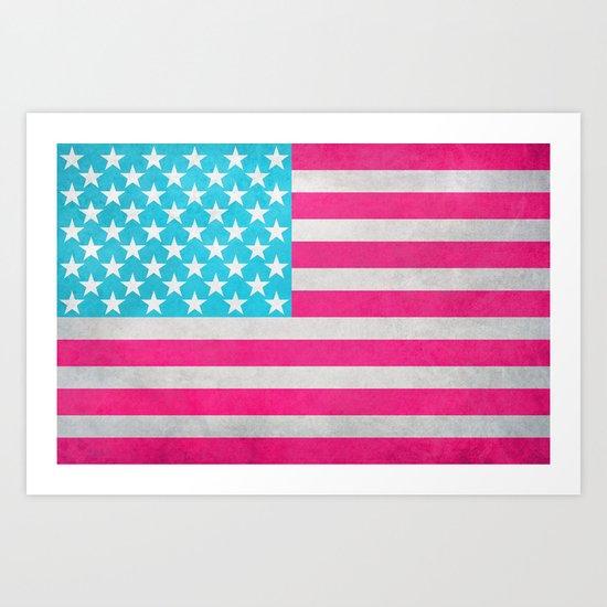 USA Flag Art Print