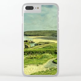 Perranporth Headland Clear iPhone Case