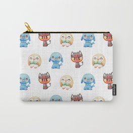Rowlet, Litten and Popplio - Starters - Pocket Monsters Carry-All Pouch