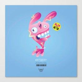 Electric Bunny-Wabbit Canvas Print