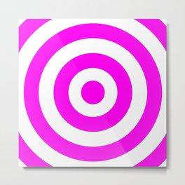 Target (Magenta & White Pattern) Metal Print