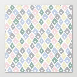 Retro Contemporary Argyle Pattern Canvas Print