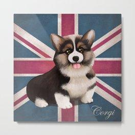 Royal Corgi Baby Metal Print