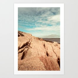 Between Earth and Sky - Travel photography - New England landscape - Maine coast Art Print
