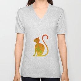 Cat Person Colors Unisex V-Neck
