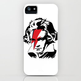 Beethoven with flash iPhone Case