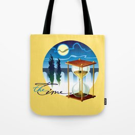 Sand-glass with southern landscape Tote Bag