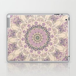 47 Wisteria Circle - Vintage Cream and Lavender Purple Mandala Laptop & iPad Skin