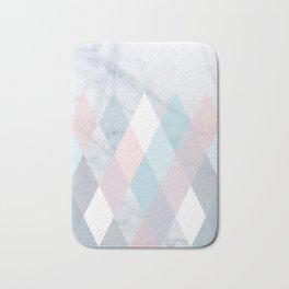 Diamond Peaks on Marble Bath Mat