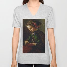 John Everett Millais - Euphemia 'Effie' Chalmers Gray, Mrs John Ruskin (1828-1898), later Lady Milla Unisex V-Neck