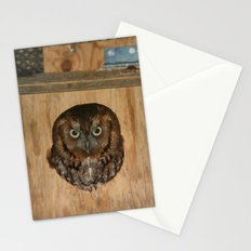 Hibou means owl Stationery Cards